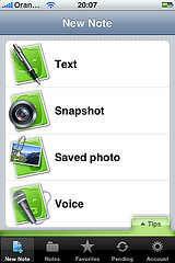 Evernote am iPhone